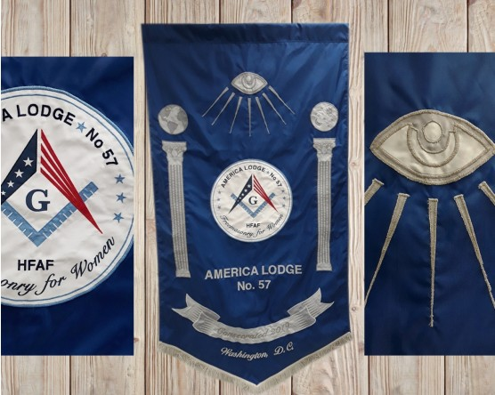 Custom applique america lodge