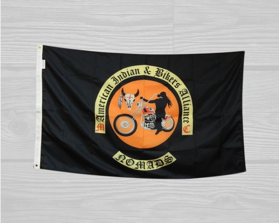 custom bikers flags