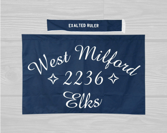 custom elks flag and sash