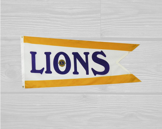 Lions club custom flag