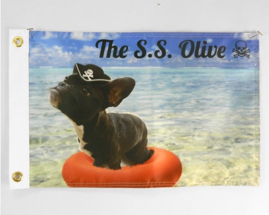 Dog Boat Flag
