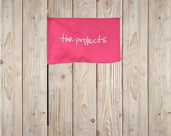 The Projects-Embroidered Stick Flag