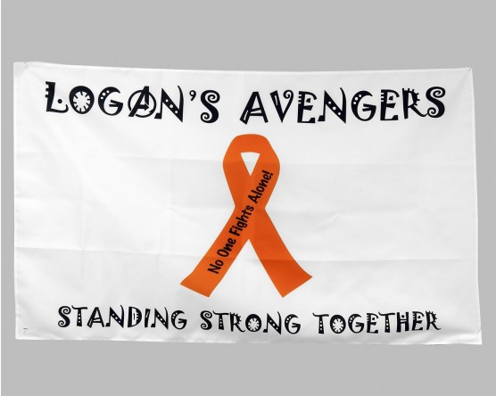 logans avengers awareness ribbon flag