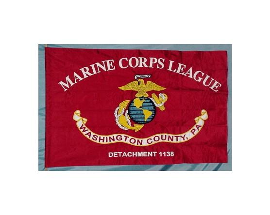 Marine Corps League Flag