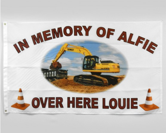 In Memory of Alfie flag