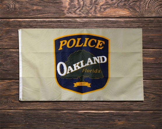 Oakland Police Department Outdoor Flag