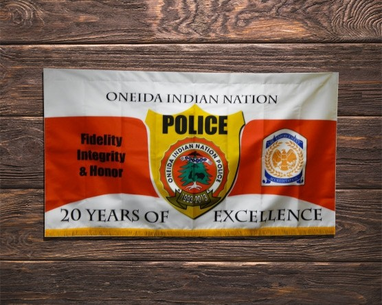 Oneida Indian Police Color Guard Banner
