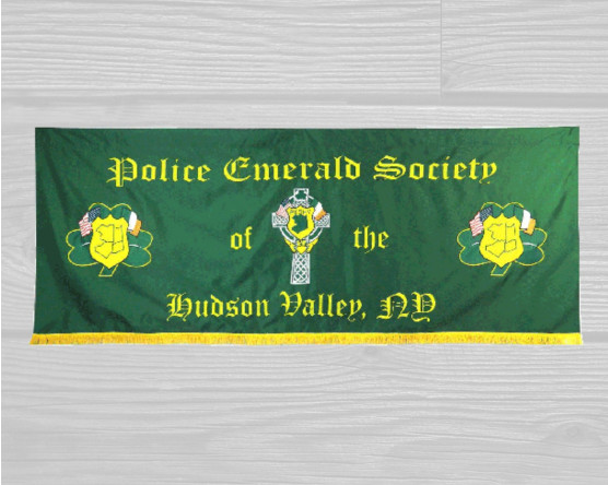 Police Emerald Society Marching Banner