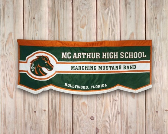 Custom Applique Marching Banner