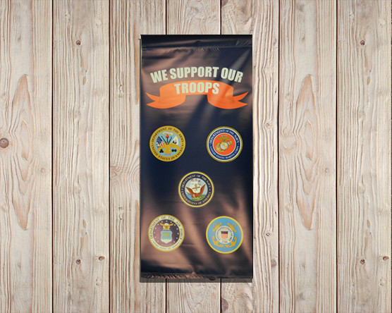 We Support our Troops Banner
