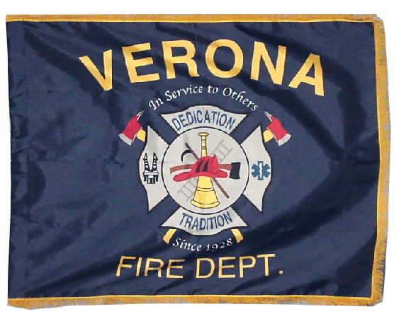 Verona Fire Department Parade Flag