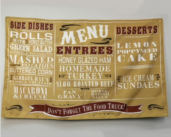 Wedding menu banner