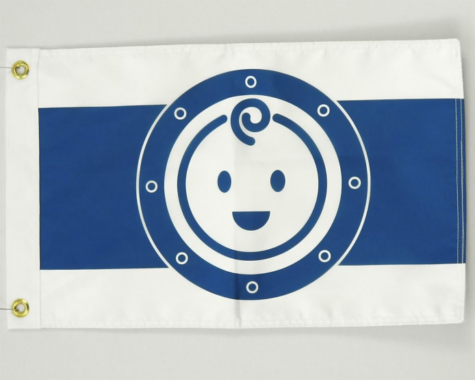 Baby on board flag
