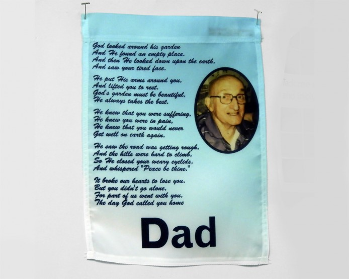 memorial dad flag for grave