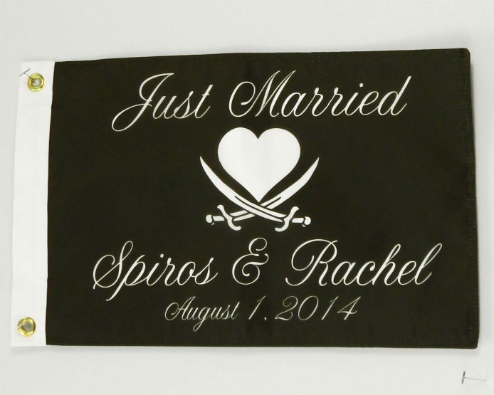 just married pirate flag