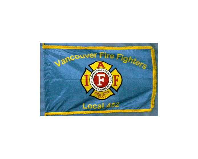 Vancouver Fire Fighters Flag