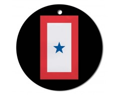 Christmas Ornament Service Star - 1 Blue Star