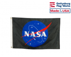 NASA Logo Flag - Meatball