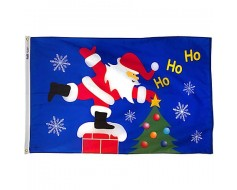 Roof Top Santa Flag - 3x5'
