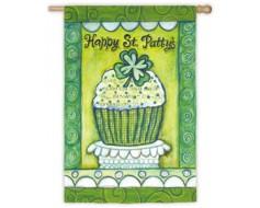 Happy St. Patrick's Day Cupcake Flag