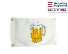 "Beer Time Boat Flag 12x18"""