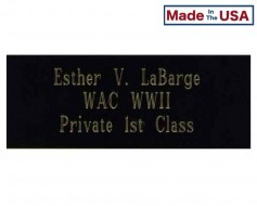 Engraved Name Plate for Memorial Case