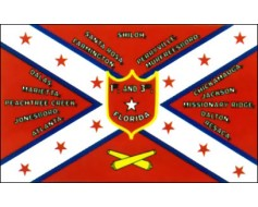1st and 3rd Florida Volunteers 1865 Flag - 3x5'