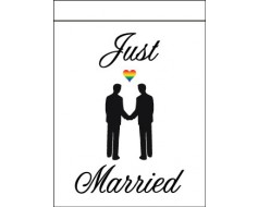 Just Married - Gay Flag