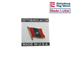 New Magnolia Mississippi State Flag Lapel Pin (Single Wav...