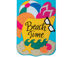 Beach Time Garden Flag