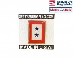 Service 2 Blue Stars Lapel Pin (Vertical Rectangle)
