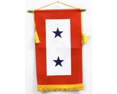 Service Star Banner (2 Blue Stars) - 8x14"