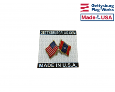 New Magnolia Mississippi State Flag Lapel Pin (Double Wav...