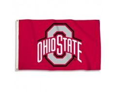 Ohio State Buckeyes Outdoor Flag - Red