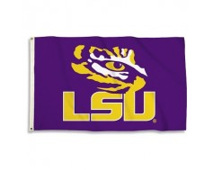 LSU Tigers Outdoor Flag - Eye of the Tiger