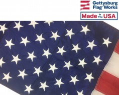 Embroidered American Flag Pulldown with 5 Stripes