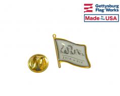 Join or Die Lapel Pin (Single Waving Flag)