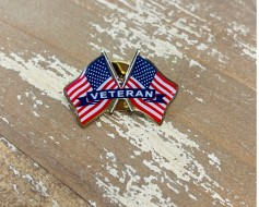 Veteran Lapel Pin (Double Waving)