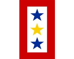 Service Star Magnet (3 Stars, Blue/Gold/Blue)