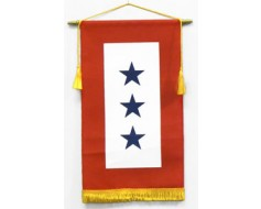 Service Star Banner (3 Blue Stars) - 8x14"