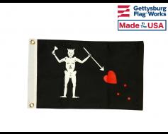 Edward Teach Blackbeard Pirate Flag