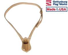 Marching Flagpole Belt Harness-Leather