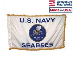 US Navy Seabees Indoor Flag - 3x5'