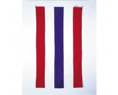 Red, White, Blue Striped Patriotic Pulldown Banner