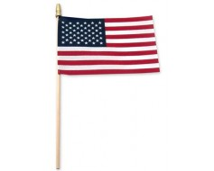 American Stick Flag (with tip) - 4x6""