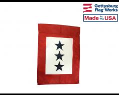 Service Star Garden Flag - 3 Blue Stars