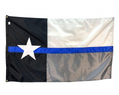 Thin Blue Line Texas Flag - 3x5'