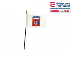82nd Airborne Stick Flag - 4x6""