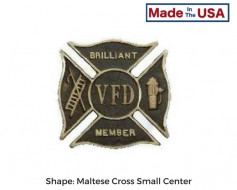 Custom Fire Department Grave Marker