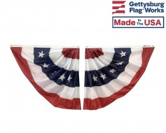 Patriotic Pleated Half Fan Set - Stars & Stripes